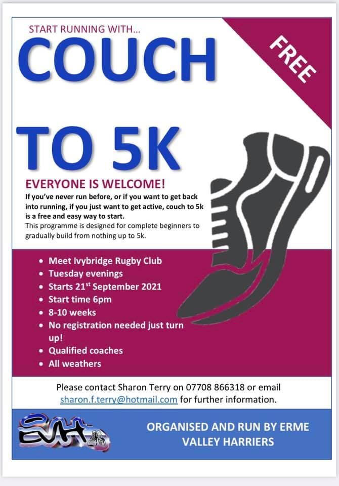Couch to 5K starts on Tuesday